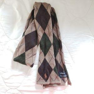 Polo Ralph Lauren argyle wool scarf